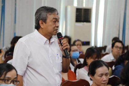 Thầy Cao Xuân Hùng, Phó HT Trường TH Kỳ Đồng (Q.3, Tp.HCM) cho rằng GV thiếu tự tin trong thiết kế bài dạy - Ảnh: N.Hùng